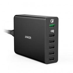 Anker Powerport+ 6 60W QC3.0 Black image here
