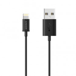 Anker MFI USB To Lightning Round Cable 3ft Black image here