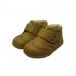 DR. KONG BABY SHOES - DARK BEIGE image here