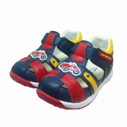 DR. KONG BABY SHOES - BLUE RED image here