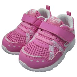 Dr Kong Kids Rubber Shoes for Girls Pink Orthopedic Shoe Velcro Design Anti-Slip PU Arch Support Insole and Hard Heel counter Walk-Stable-Shoe 2-4 years old image here