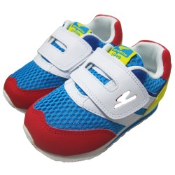 Dr Kong Kids Sneaker Shoes for Boys Blue Red Yellow Velcro Style Anti-Slip PU Arch Support Insole Walk-Stable Shoe 2-4 years old image here