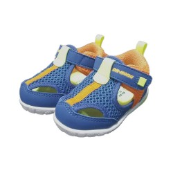 Dr Kong Kid Sneaker Shoe for Boys Blue Velcro Strap Anti-Slip PU Arch Support Insole Pre-walk Shoe 1-3 years old image here