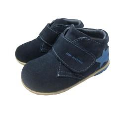 Dr Kong Baby Shoes Dark Blue Pre-walk Shoe 8-16 mos B12040 image here