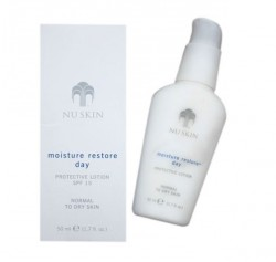 NU SKIN   MOISTURE RESTORE DAY PROTECTIVE LOTION SPF 15 (NORMAL TO DRY SKIN) image here