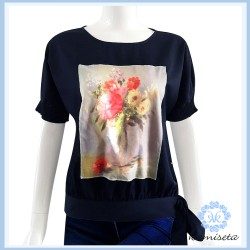 NAVY JYNELL BLOUSE image here