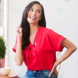 Red MERRIDY Blouse image here