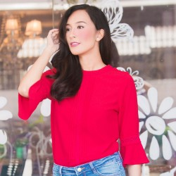 Red SHAE Blouse image here