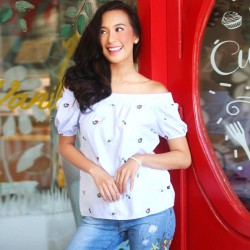 White CARELLE Blouse image here
