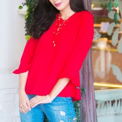 Red XAVIA Blouse image here