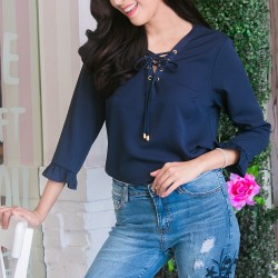 Navy Blue XAVIA Blouse image here