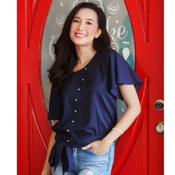 Navy RAYNETTE Blouse image here
