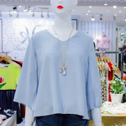 Kamiseta,Light Blue CHARIAH Blouse,Blue,381265 image here