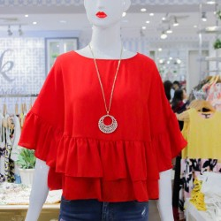 Red KIERSTY Blouse image here