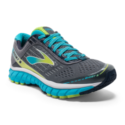 BROOKS Women's Running Shoes Ghost 09 B151 Grey/Blue image here