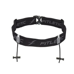 FITLETIC Race Number Holder RN01-1 Black/Grey image here
