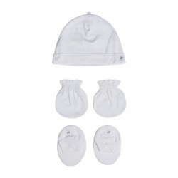 St. Patrick Essentials |  Mittens, Beanie, Booties Pack White image here