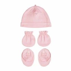 St. Patrick Essentials | Mittens, Beanie, Booties Pack Pink image here