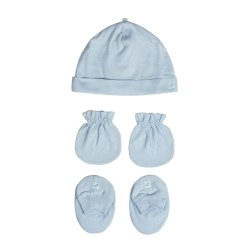 St. Patrick Essentials | Mittens, Beanie, Booties Pack Blue image here