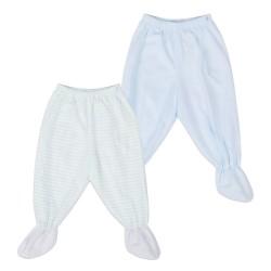 St. Patrick Essentials | Footie Pajamas Blue image here