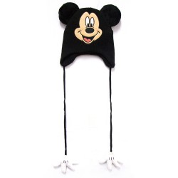 Disney Mickey and Minnie  Mickey Beanie with 3D Ears and Hands image here