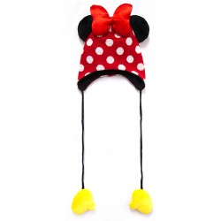 Disney Mickey and Minnie Minnie Mouse Beanie w/ 3D Ears & Shoes image here