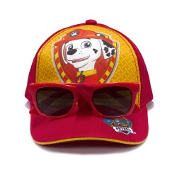Marshall Baseball Cap with Sunglasses,Red,MSBS001 image here