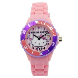 Hello Kitty Girls Pink Rubber Strap Analog Casual Watch HKSS18002 image here