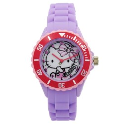 Hello Kitty Girls Purple Rubber Strap Analog Casual Watch HKSS18006 image here