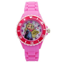Barbie Girls Pink Rubber Strap Analog Casual Watch BBSISS18101 image here