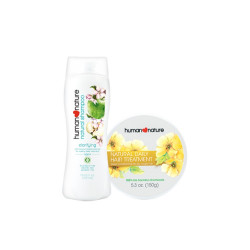 Human Nature,Human Nature Clarifying Shampoo + Daily Hair Treatment Bundle,FGZZ190121 image here