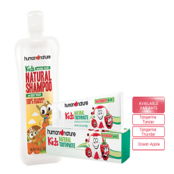 Human Nature,495ml Kids Shampoo with 120g Kids Toothpaste,HN-ThunderToothpaste image here