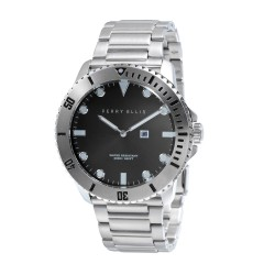 Perry Ellis Deep Diver Men Silver Stainless Steel Strap Analog Watch 02001-02 image here