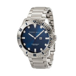 Perry Ellis Deep Diver Men Silver Stainless Steel Strap Analog Watch 02002-02 image here