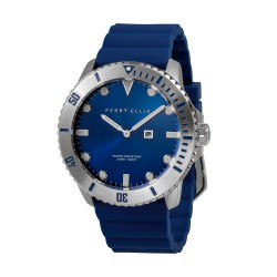 Perry Ellis Deep Diver Men Blue Silicone Strap Analog Watch 02002-03 image here