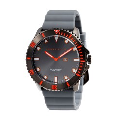 Perry Ellis Deep Diver Men Gray Silicone Strap Analog Watch 02004-03 image here