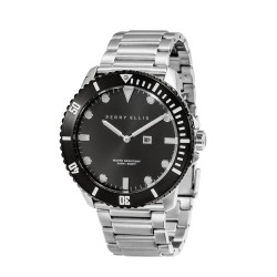 Perry Ellis Deep Diver Men Silver Stainless Steel Strap Analog Watch 02005-02 image here