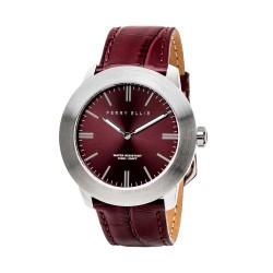 Perry Ellis Slim Line Men Brown Genuine Leather Strap Analog Watch 03003-01 image here