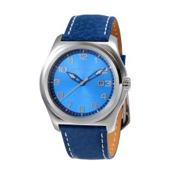 Perry Ellis Memphis Men Blue Genuine Leather Strap Analog Watch 04009-01 image here