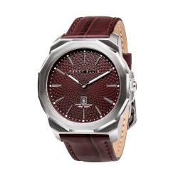 Perry Ellis Decagon Men Brown Genuine Leather Strap Analog Watch 05003-01 image here