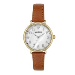 Armitron  Women Brown Genuine Leather Strap Analog Watch 75/5404MPGPBN image here