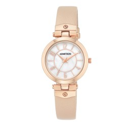 Armitron  Women Beige Genuine Leather Strap Analog Watch 75/5338MPRGBH image here