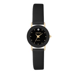 Armitron  Women Black Genuine Leather Strap Analog Watch 75/2447BLK image here
