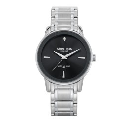 Armitron  Men Silver Stainless Steel Strap Analog Watch 20/5263BKSV image here