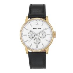 Armitron  Men Black Genuine Leather Strap Chronograph Watch 20/5217WTGPBK image here