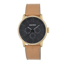 Armitron  Men Tan Genuine Leather Strap Chronograph Watch 20/5217BKGPTN image here