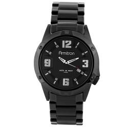 Armitron  Men Black Stainless Steel Strap Analog Watch 20/4692BKTI image here