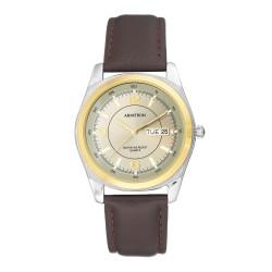 Armitron  Men Dark Brown Genuine Leather Strap Analog Watch 20/1925GYBN image here