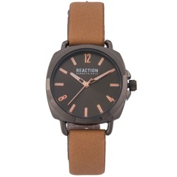 Kenneth Cole Reaction  Womens Beige Leather Strap Analog Watch RK50100005 image here