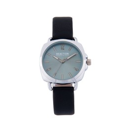 Kenneth Cole Reaction  Womens Black Leather Strap Analog Watch RK50100007 image here